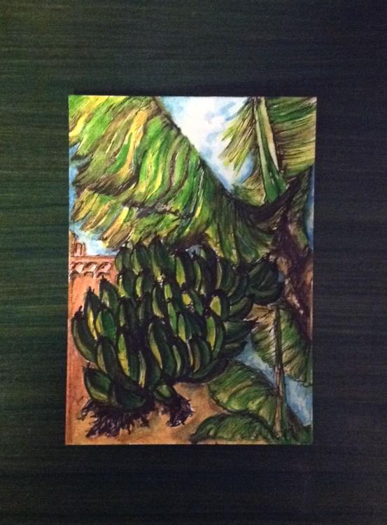 Going Bananas: Miniature Postcard -sized artwork - Image 0