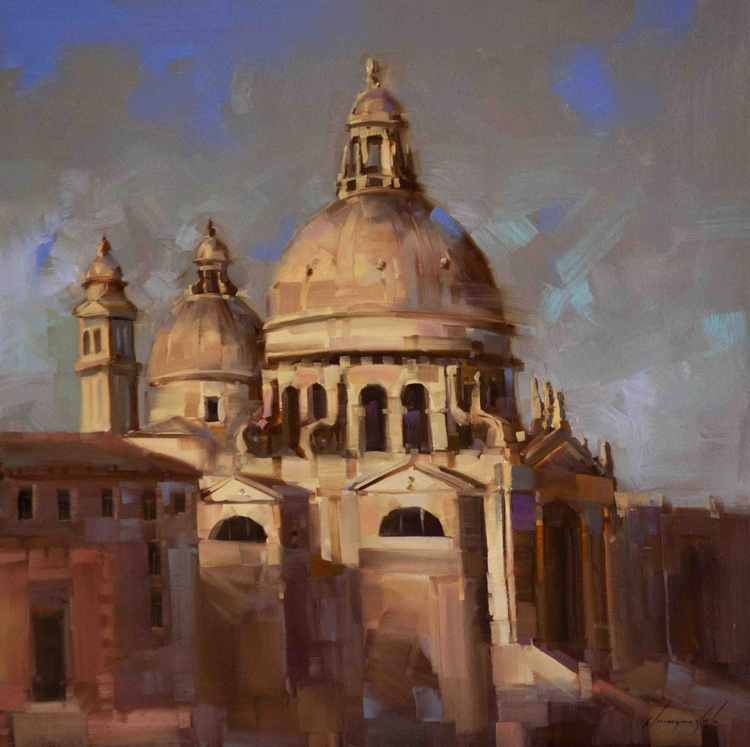 Venice and Architecture Handmade oil Painting - Image 0