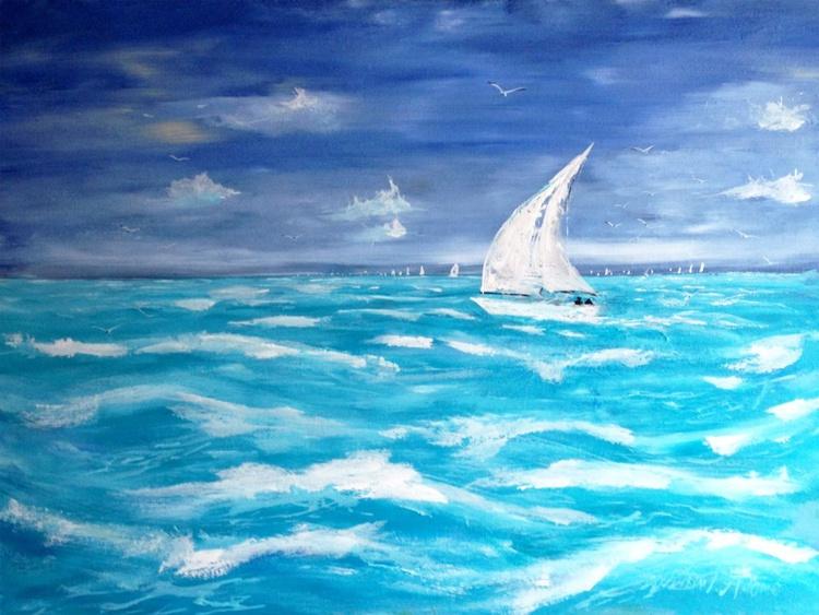 Lavender Skies over Turquoise Seas - Image 0