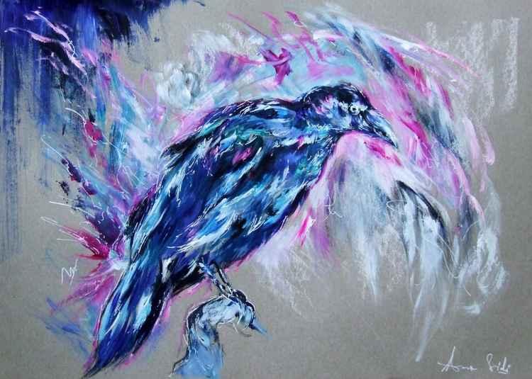 Raven II / Gouache -