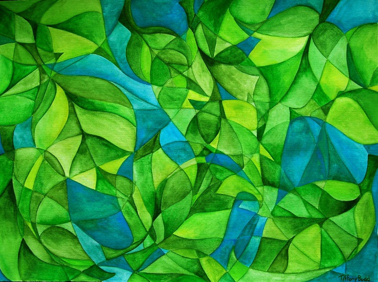 Abstract Green Leaves - Image 0