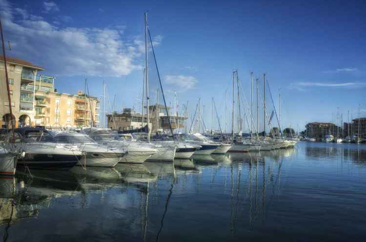 The harbour of Fréjus -