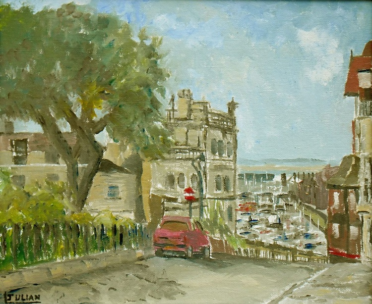 Ramsgate View - The royal Harbour from Albion Place - An original Oil Painting! Lovely Gift - Image 0