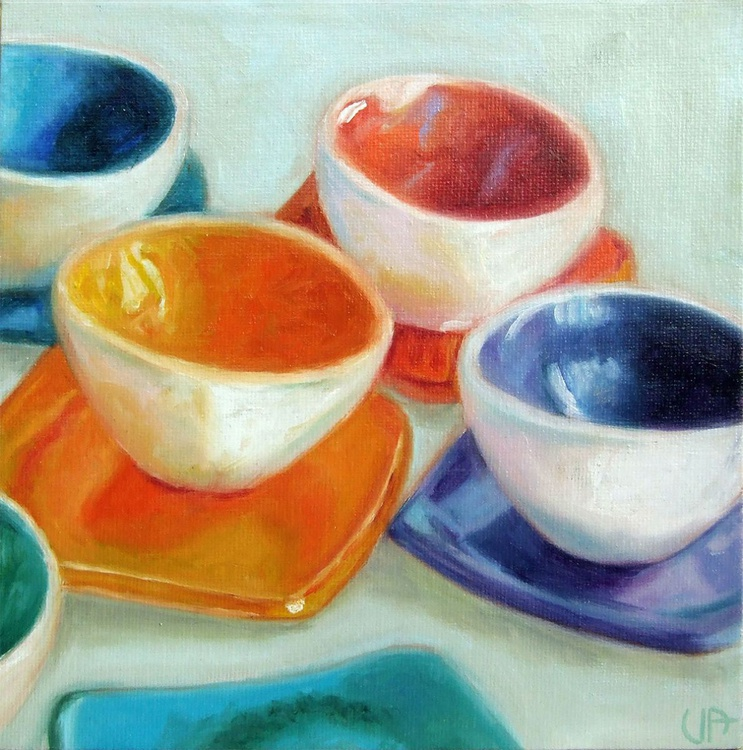 The multicolor bowls - Image 0