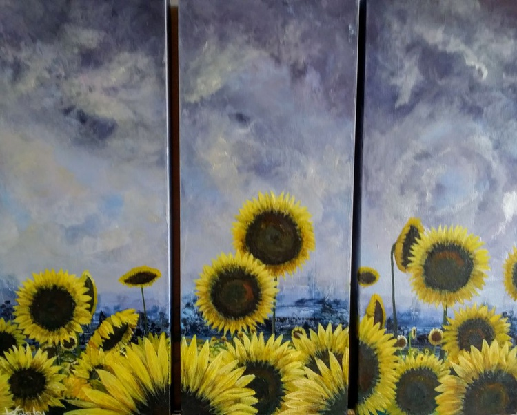 Before the Storm (set of three canvases) - Image 0