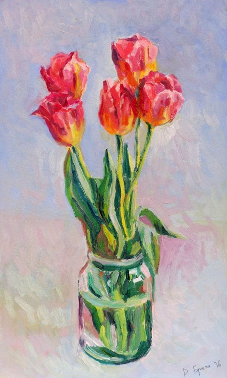 The Tulips in the Morning. - Image 0