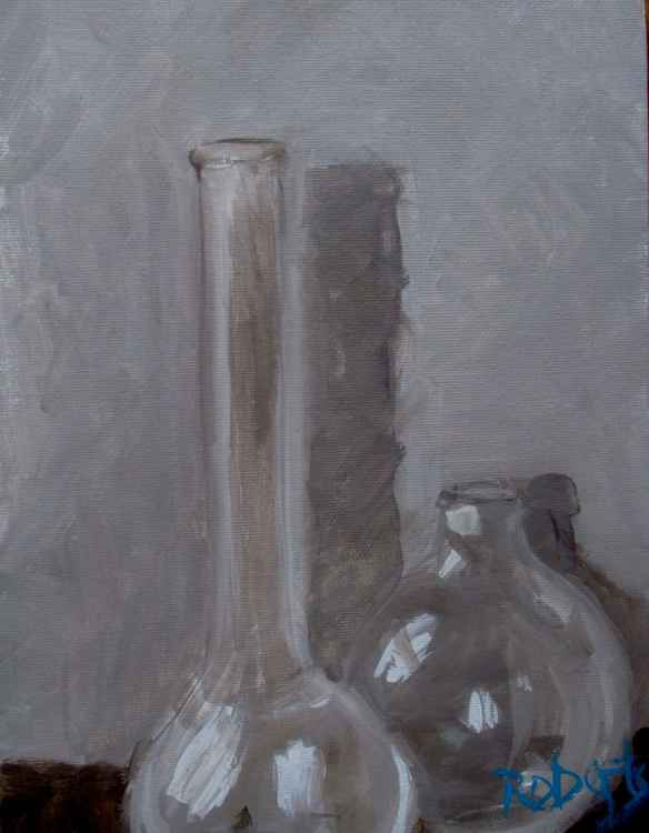 2 glass vases - Daily painting 66