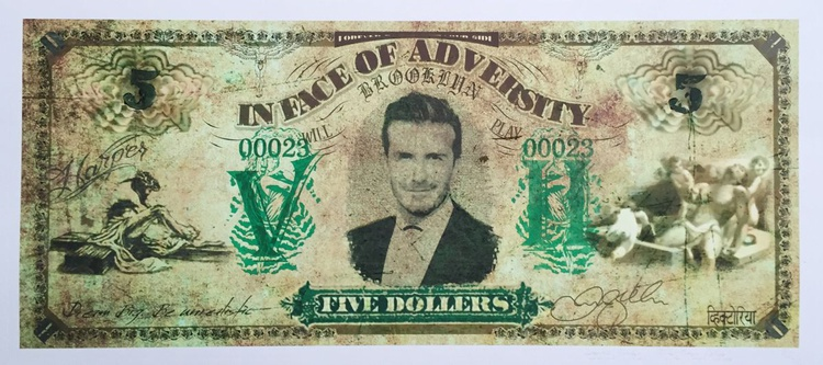 Five Dollers - David Beckham (green) - Image 0