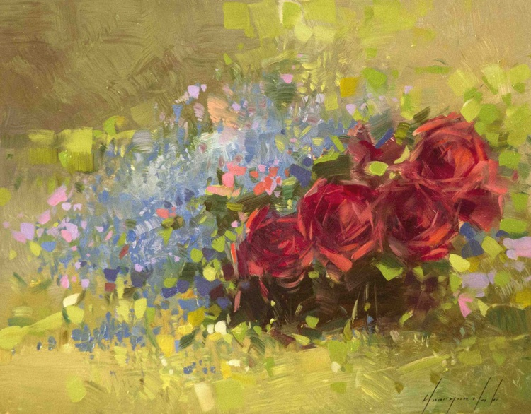 Roses Handmade oil painting - Image 0