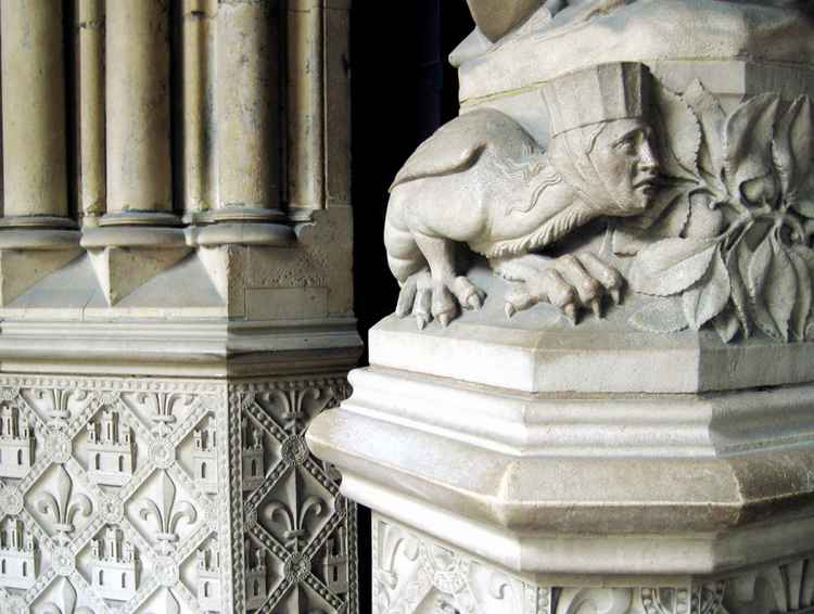 Paris, Sainte-Chapelle (entrance detail) -