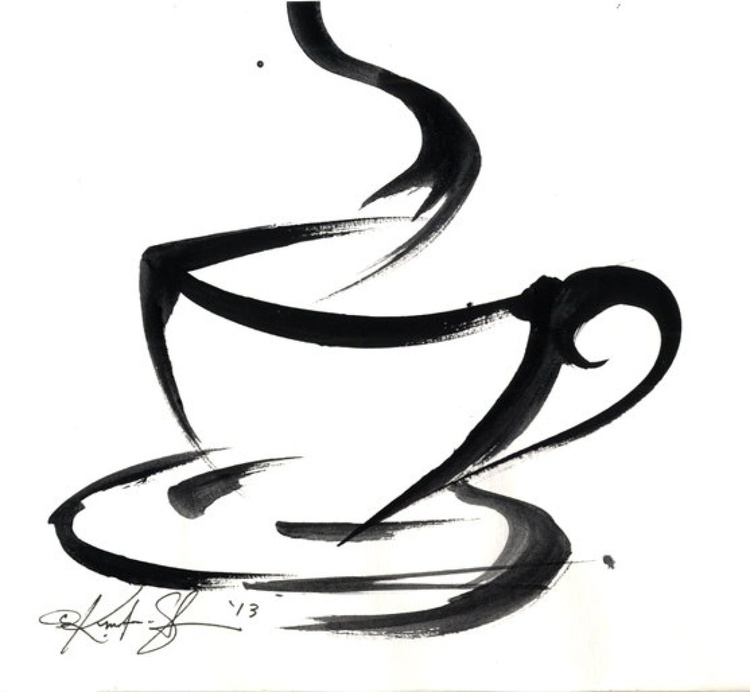 Brushstroke Coffee Cup No.3 - Image 0