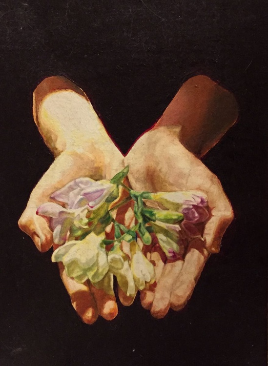 Hands With Freesias - Image 0