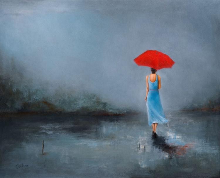 Lady with Umbrella - Image 0