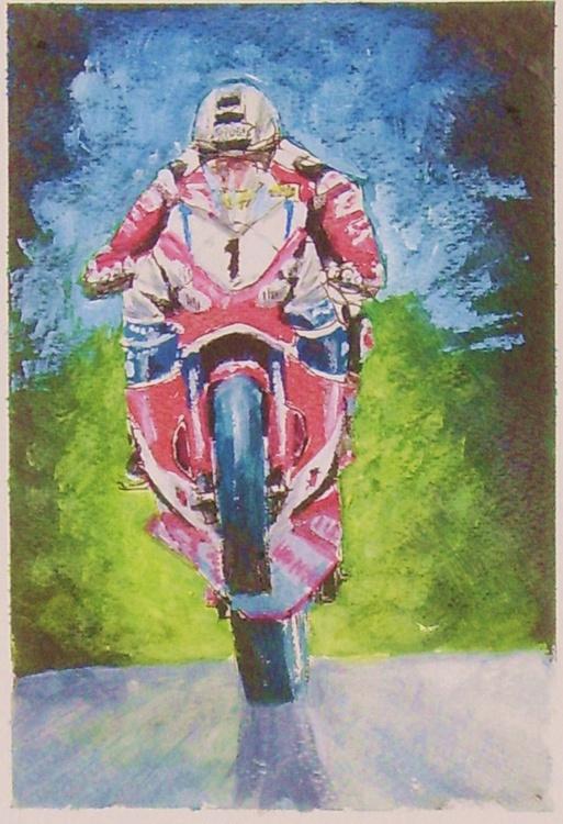 King of the Mountain - John McGuinness TT2015 - Sketch - Image 0