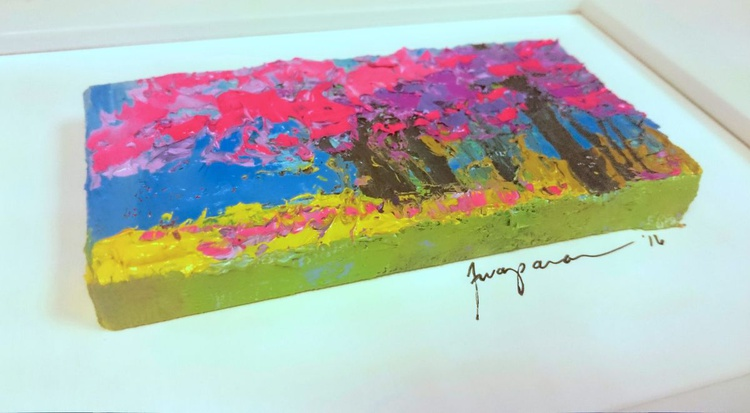Pink Whispers | Miniature Landscape Painting - Image 0