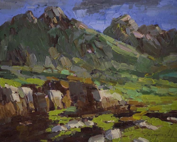 Grand Teton Handmade oil Painting on Canvas - Image 0
