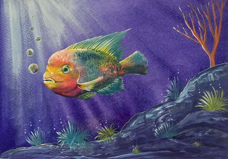 Under the Waves, Rainbow fish - Image 0