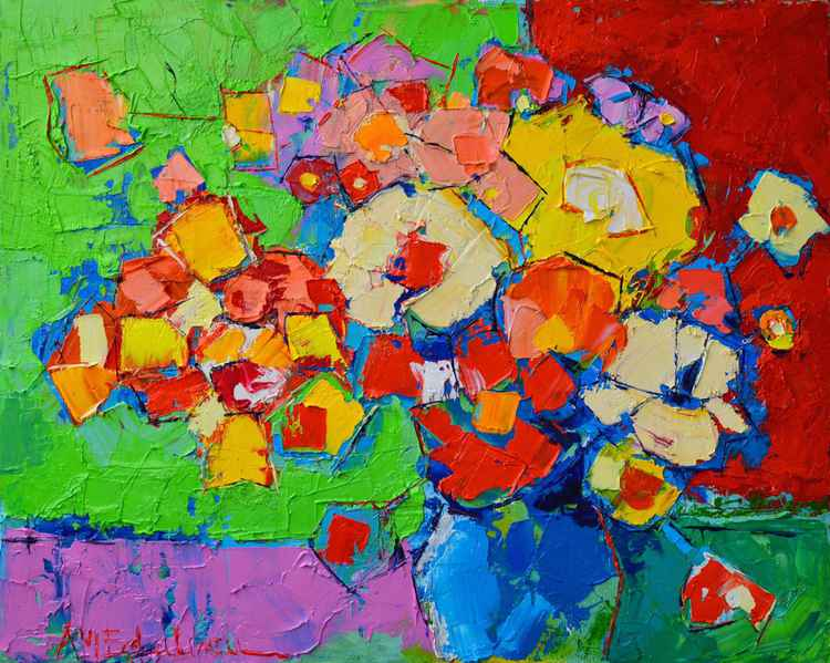 ABSTRACT COLOURFUL FLOWERS