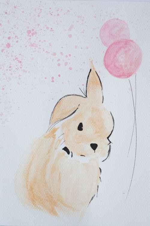 Bunny + Balloons -
