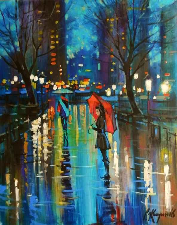 rainy evening -