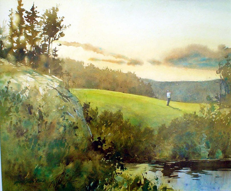 18th hole, Le Geant golf course, Tremblant, Qc - Image 0