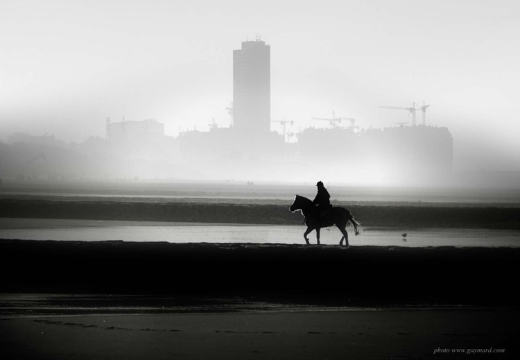 Riding on the beach / Framed - Image 0