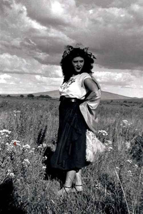 Celia a la Natural, c. 1948 • Samuel Gutierrez, Foto Estudio Paris, Jalisco, Mexico • Silver Rag Print