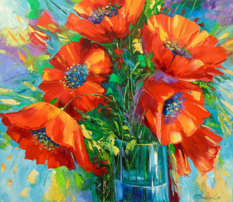 Bouquet of poppies - Image 0