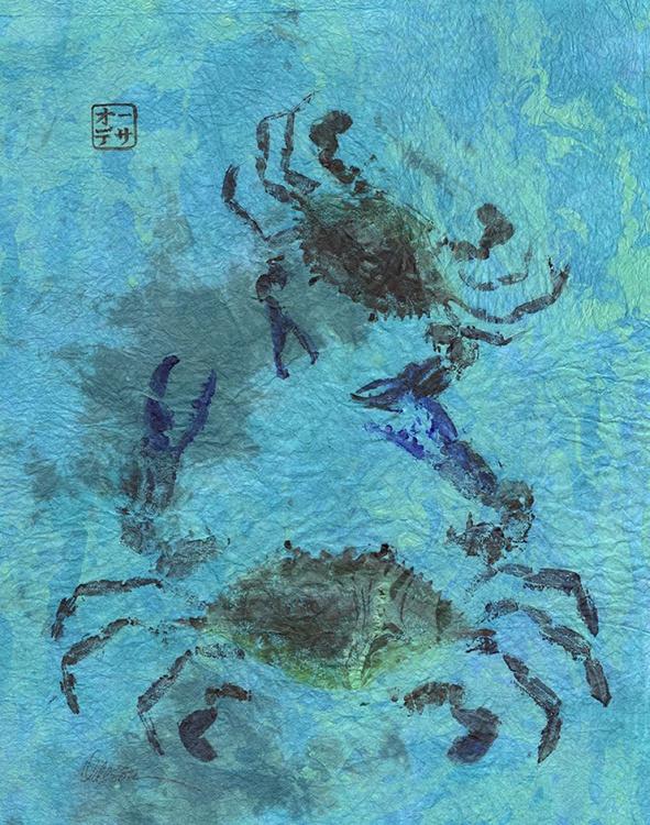 Blue Crab Gyotaku (Fish Rubbing) - Image 0