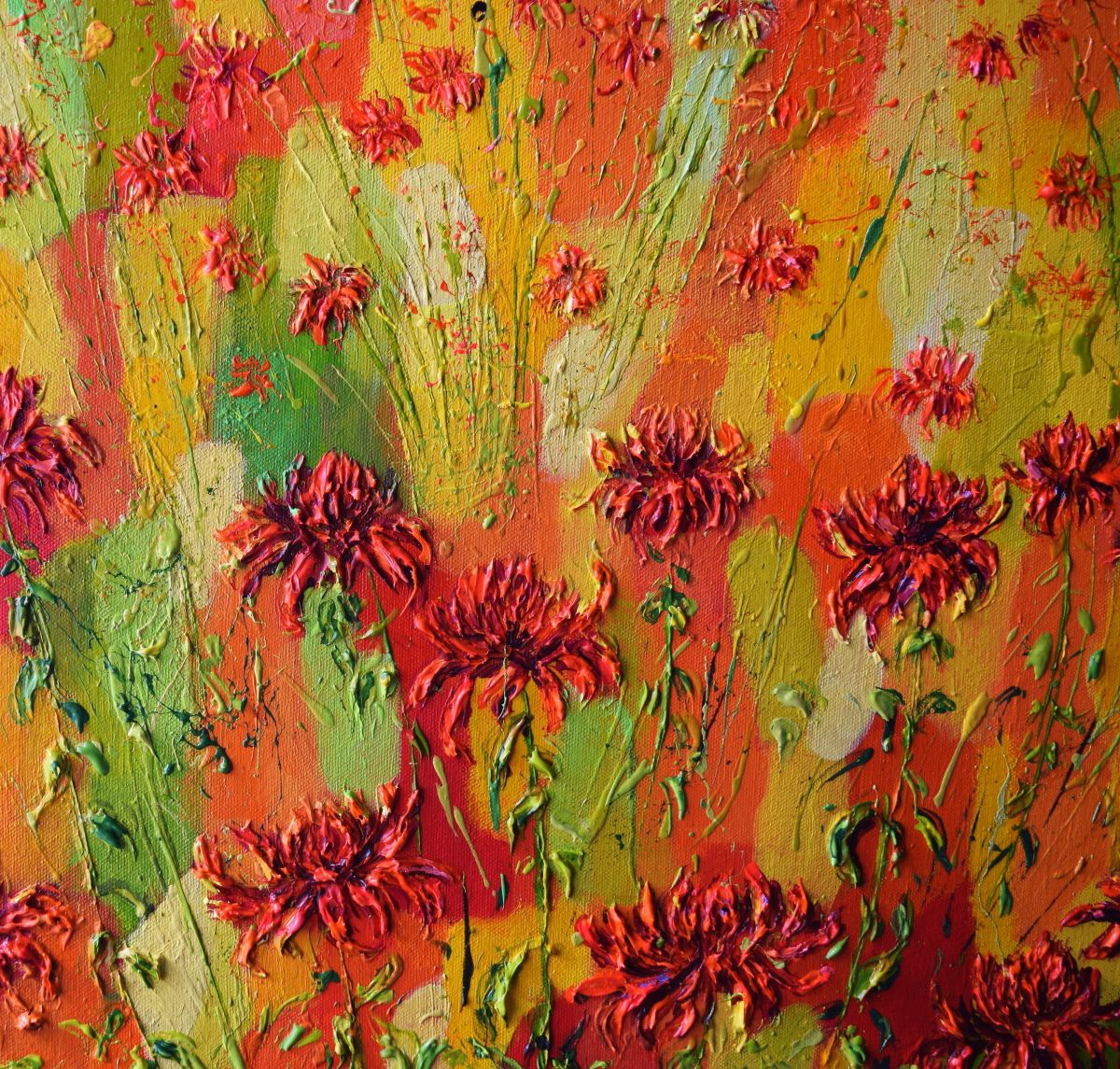 Hothouse Flowers 2017 Acrylic painting by Colette Baumback