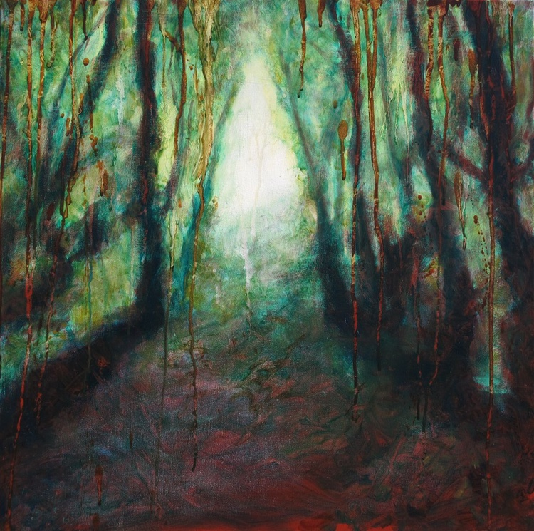 """The emerald forest"" - LARGE SIZE - 70X70cm - Image 0"