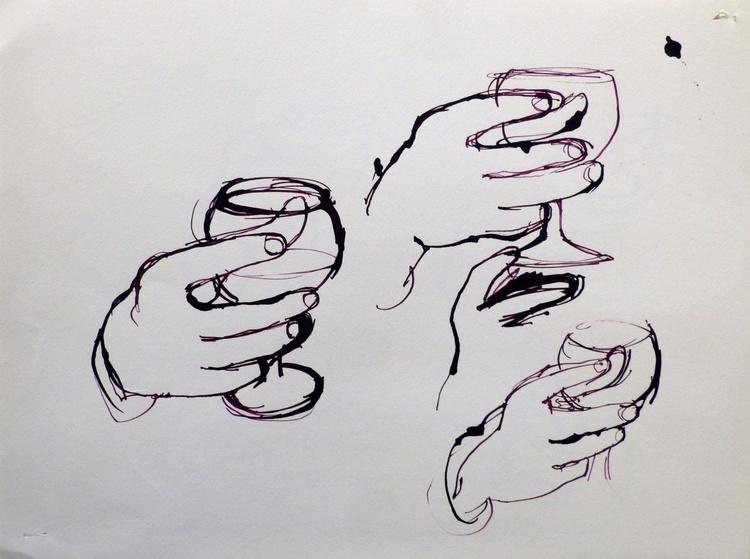 Study Of Hands 6, 32x24 cm - Image 0