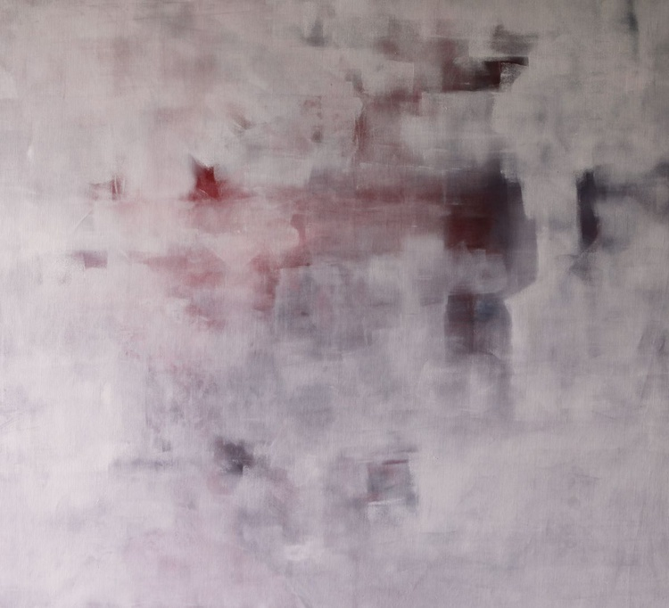 Dominantion of white, comp. #1, 110x100cm - Image 0