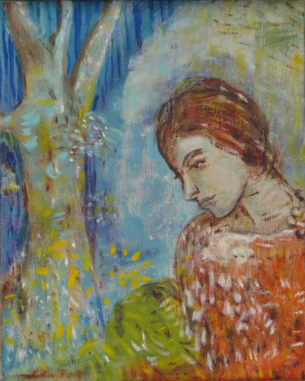 Woman by Tree (after Redon)
