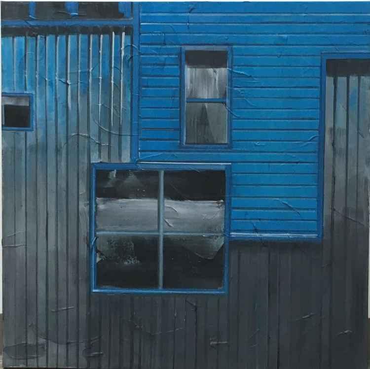 Blue siding -