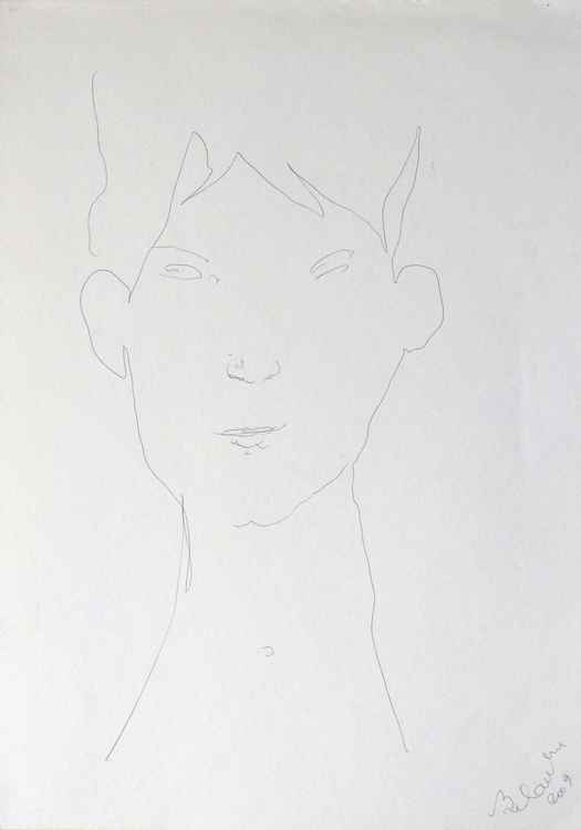 Airy portrait, 29x41 cm -