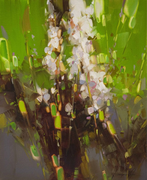 Flowers Contemporary art Original oil Painting on Canvas One of a Kind - Image 0