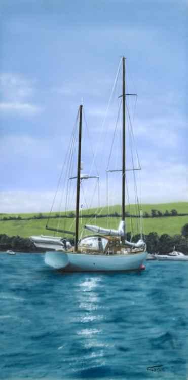 Boat on Salcombe Estuary No.3