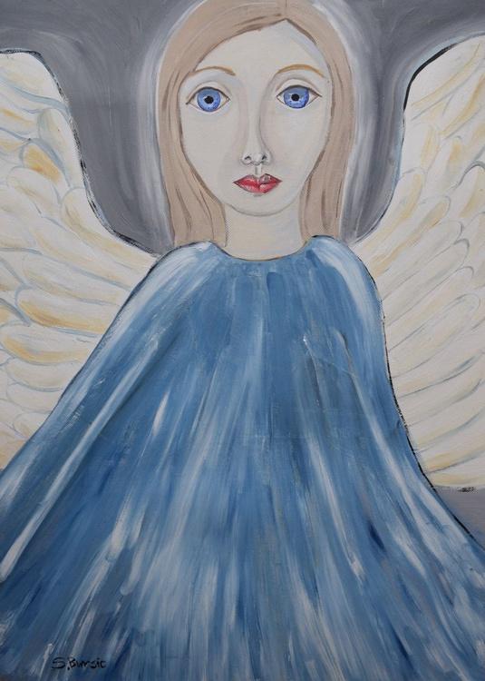 Guardian Angel in Blue - Image 0
