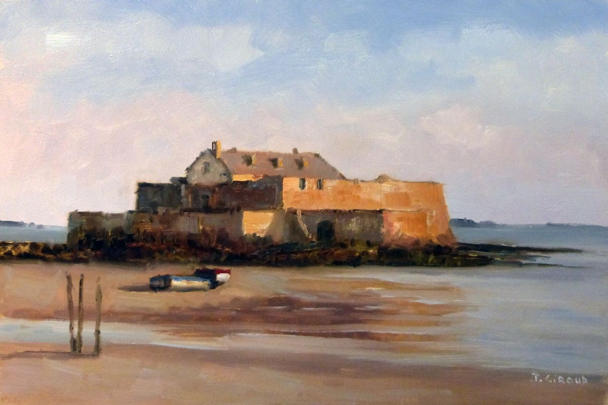 fort national st malo 2016 oil painting by pascal giroud artfinder. Black Bedroom Furniture Sets. Home Design Ideas