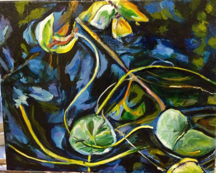 Lily pond-oil - Image 0