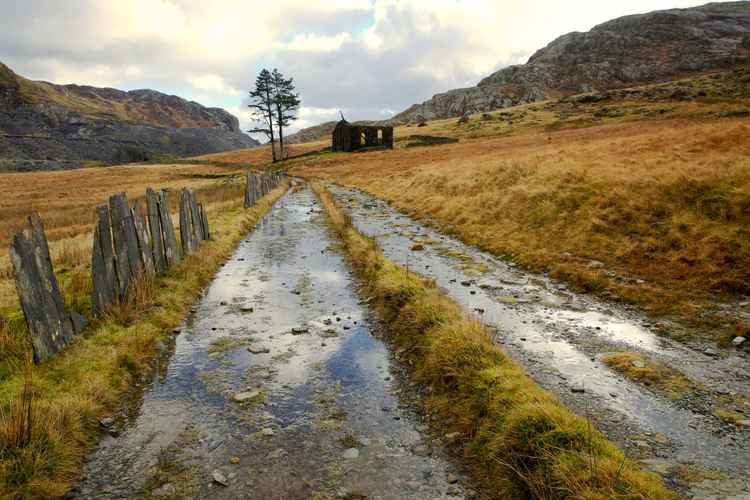 The Road to the Chapel, Cwmorthin, Snowdonia -