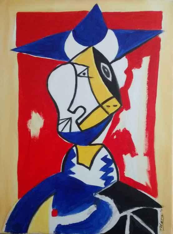 Cubist portrait after Picasso