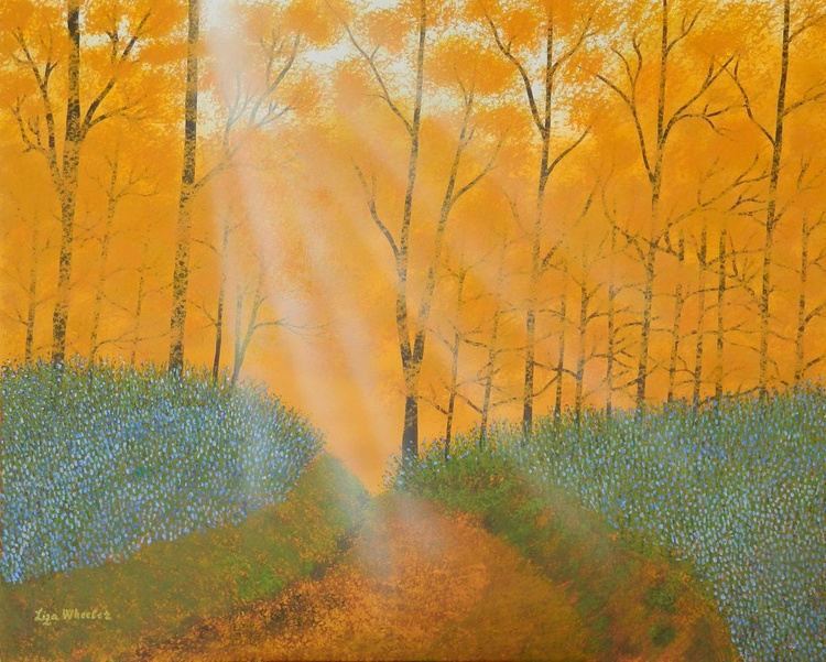 Where the Spirit Lives - Original modern forest landscape mixed media painting - Image 0