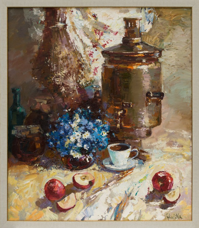 Original still life painting in Russian style - Image 0