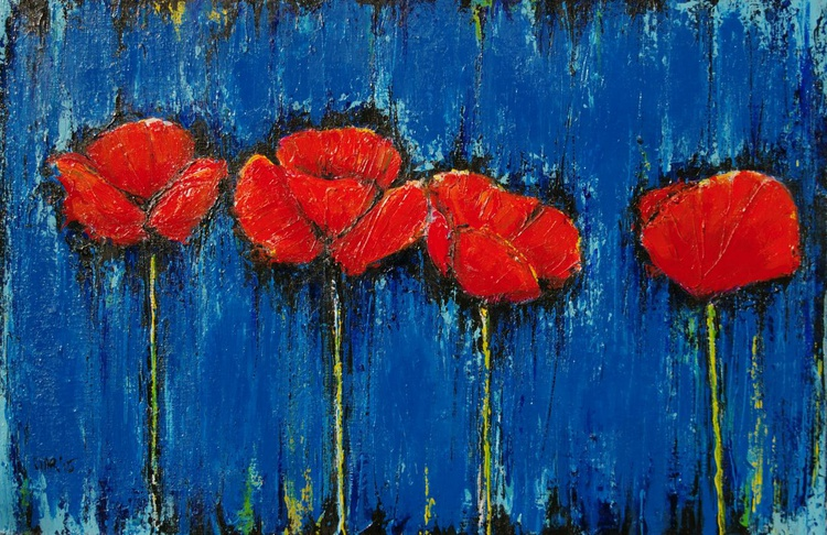Four Poppies - Image 0