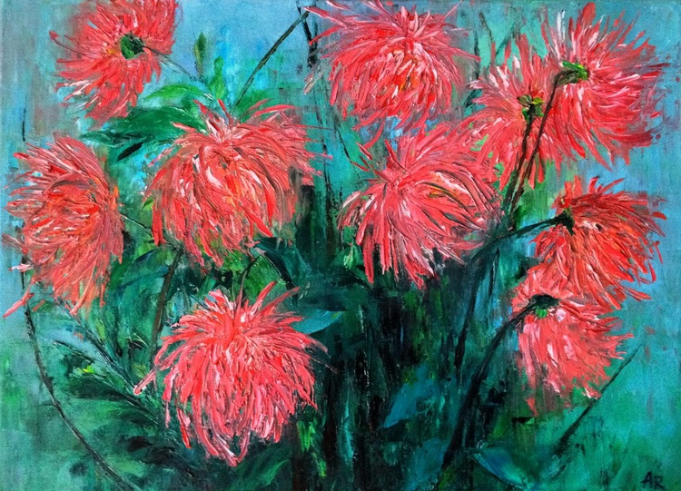 Fiery chrysanthemums - Image 0