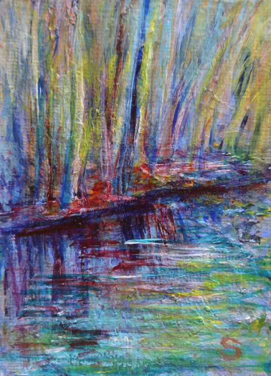 FOREST, EARLY SPRING ACEO (ATC) - Image 0