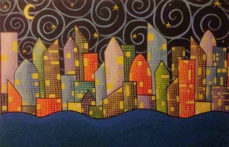Bright city night 2