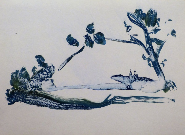 Boating in Blue, 41x29 cm - Image 0